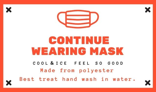 マスクはポリエステル素材